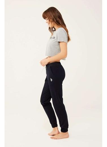 U.S. Polo Assn. Kadın Lacivert Kısa T-Shirt Gri